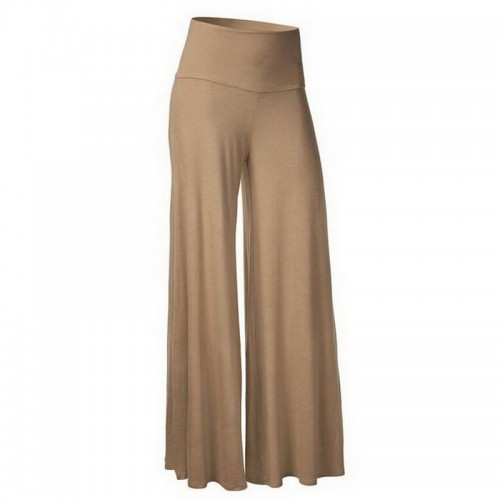 NIBESSER New Fashion Long Wide Leg Pants Women Solid Loose High Waist Maxi Pants Feminine