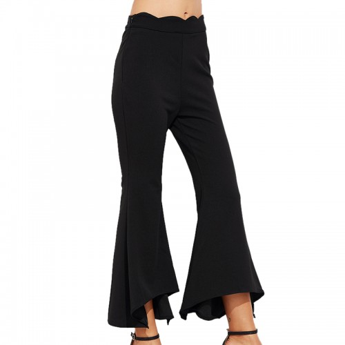 Women Wide Leg Pants Casual High Waist Clip Women Legging