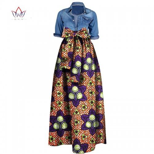 Summer Woman Long Maxi Skirt for Women African Dashiki for women Bazin riche robe longue femme