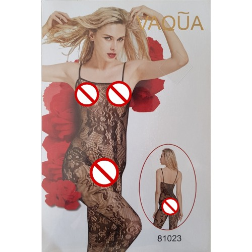 VAQUA Womens Elastic Full Body Open Crotch Net Bodystockings Bodysuit