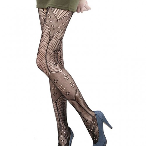 Womens Net Geometrical Fishnet Pantyhose Tights Stockings