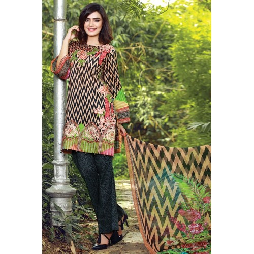 MWU01676 PRINT B DIGITAL PRINTED LAWN UNSTITCHED