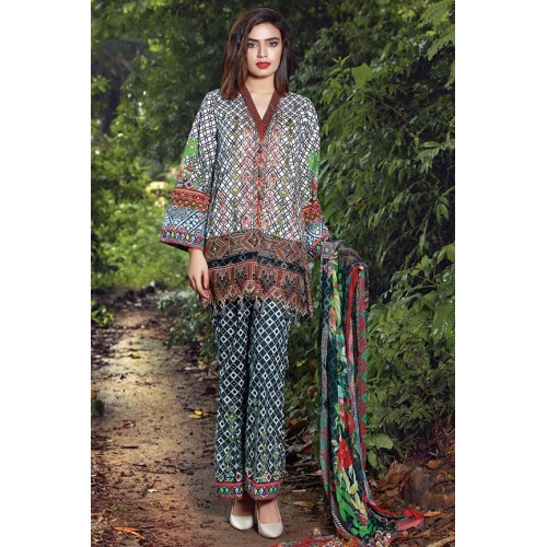 MWU01857 PRINT A DIGITAL PRINTED LAWN UNSTITCHED