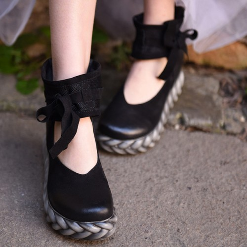 Artmu Moda Madre de Las Mujeres Zapatos de Plataforma Plana de La Vendimia Zapatos de Mujer.