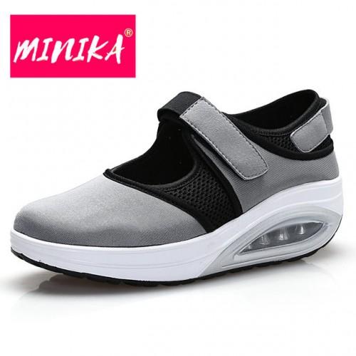 MINIKA Nueva Llegada de Las Mujeres Zapatos Casuales Primavera oto o Nueva Moda Gancho y Lazo.