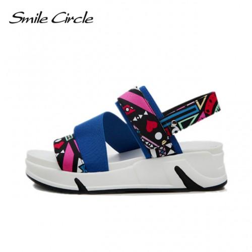 Sonrisa C rculo de Flores de Verano Sandalias Para Las Mujeres Zapatos de Moda Sandalias de.