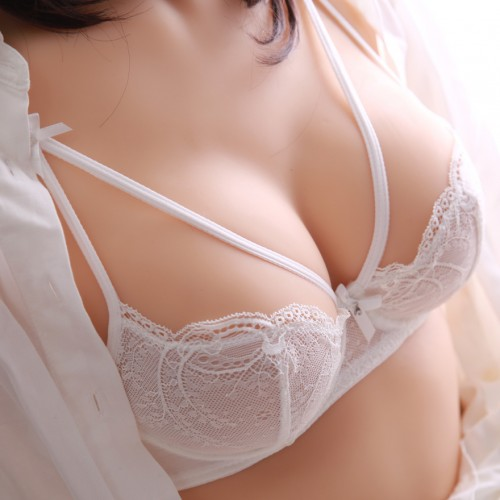 Breathable bra lace transparent ultra thin sponge push up white black young girl underwear bra
