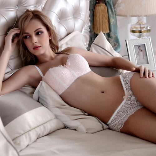 New Fashion push up wireless cup bra set underwear tube top design