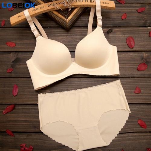 LOBEIOK Seamless girl bra set comfortable quality suits womens underwear sets