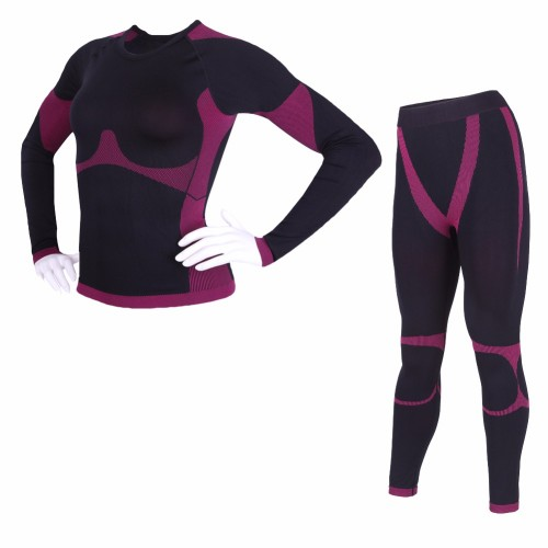 Codysale 2 Pieces Winter Thermal Long John Underwear Sets for Women Elastic Compression Shirts and Pants
