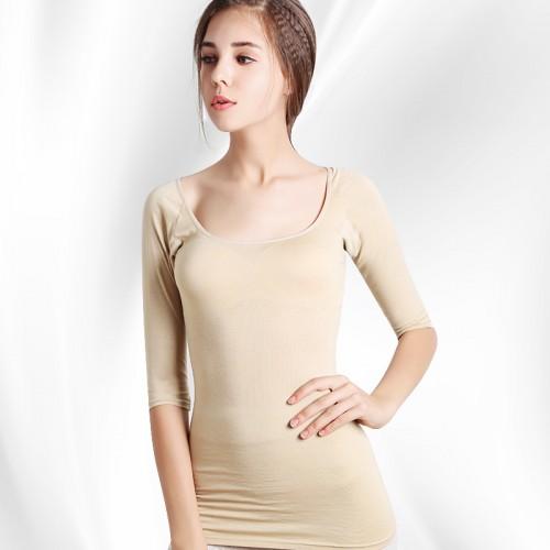 Feilibin New Women Long Johns Thin Thermal Underwear Slimming Female Long Underwear Seamless Breathable Single Tops