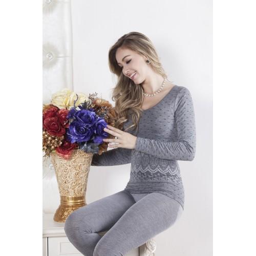Good Quality Beauty Body Winter Bamboo Modal Thin Long Johns Shaper Women Thermal Underwear Pajama Set