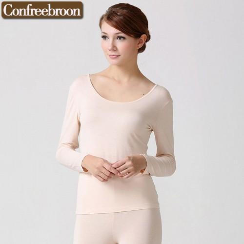 High Elastic Women s Thermal Underwear Top Low Cut Soft Bodysuit Modal Female Thin Warm Clothing