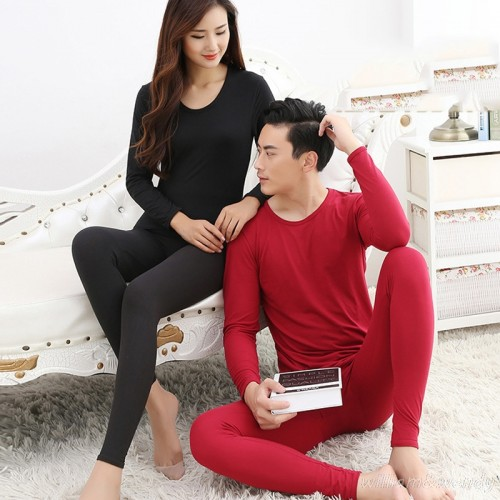 Men And Women Long Thermal Underwear Winter Warm Long John Large Size Thin Soft Slim Clothing