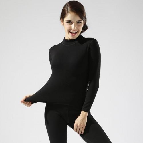Plus Size M XXL Women winter thermal underwear suit thick velvet ladies thermal underwear women clothing