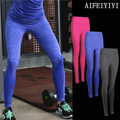Women High Waist Breathable quick dry compression pants thermal underwear Stretch Base Layer long