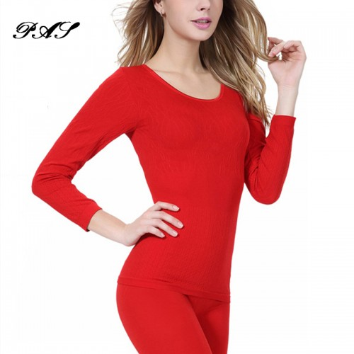 Women Hot Sale Winter Antibiosis Warm Long Johns Underwear Top Pant Lady