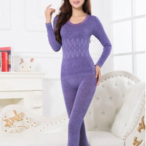 Women Winter Warm Thermal Underwear Long Johns Long Sleeve Thermal Clothing Underwears Sets
