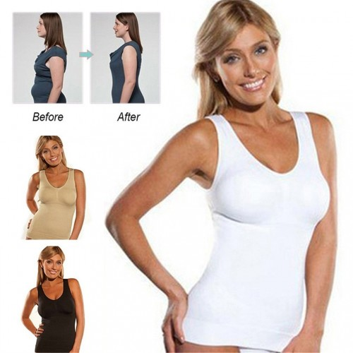 Body Shaper Camisole Tank Top Slimming Vest Wireless Non Padded Corset