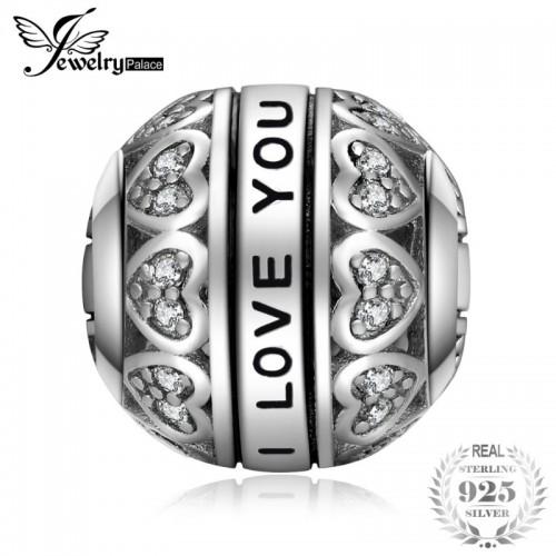 Grandmother Women Vintage Heart Love Beautiful Delicate Sterling Silver Charm Beads Bead Fit Bracelets.jfif