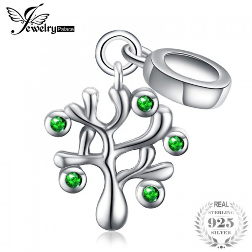 Life of Tree Cubic Zirconia Sterling Silver Charm Beads Beautiful.jfif