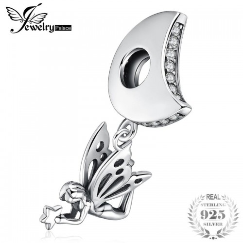 Sterling Silver Believe Fairy Charm Beads For Bracelets Trendy For Women Girl.jfif