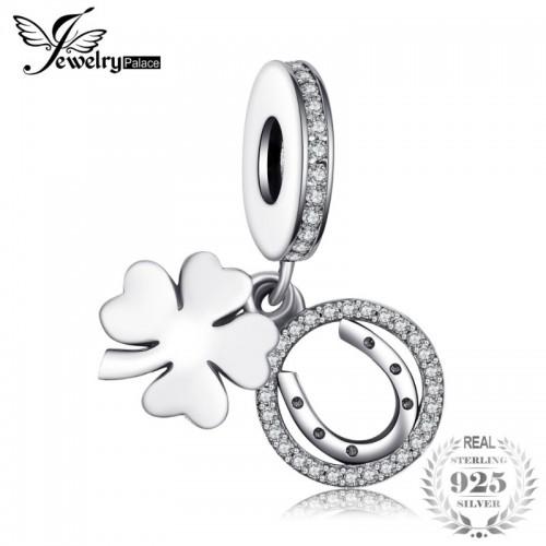 Sterling Silver White Flower Luck Around Charm Bracelets for Women Anniversary Fashion.jfif
