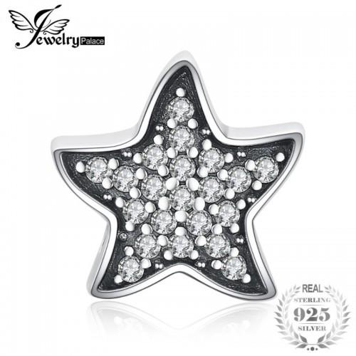 Stunning Starfish Cubic Zirconia Sterling Silver Charm Beads Beautiful.jfif