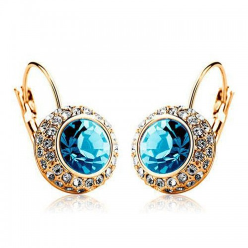 Multi Color Big Austrian Crystal Boucle D oreille Femme Plated Rhinestone Earrings For Women