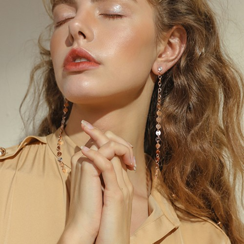 New fashion jewelry accessories Bohemia long size gold color dangle earring best gift for lover s