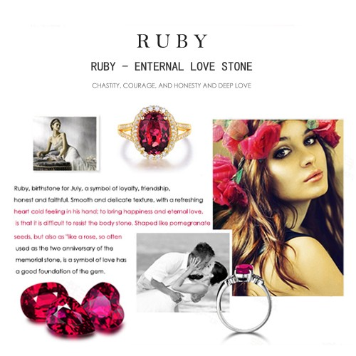 AAA Natural Gemstone Ruby Red Stone Only Stone LMRUBY