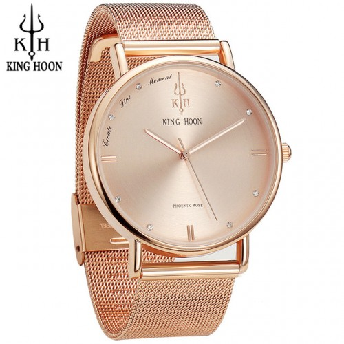 KING HOON Women Watches Ultra Thin Stainless Steel Quartz Wrist watch Bracelet Rhinestones watch montre Femme.jpg 640x640