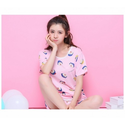 Comfortable Cute Short Sleeve Sleepwear Suit