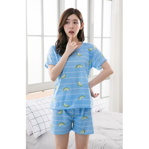 Women Pure Cotton 2 Piece Printed Short Set 5