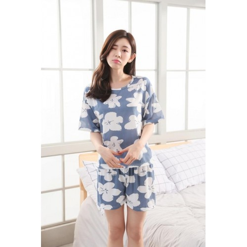 Women Pure Cotton 2 Piece Printed Short Set 8
