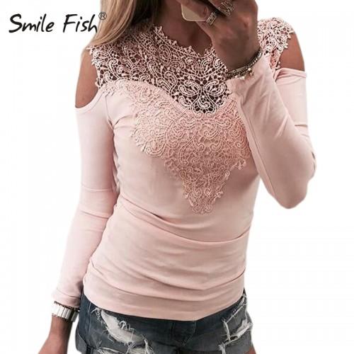 Female Top Autumn Tshirt Long Sleeve Slim Jumper