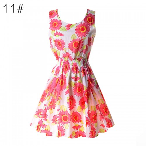 Sleeveless Printed Floral Slim Tank Mini Dress (11)