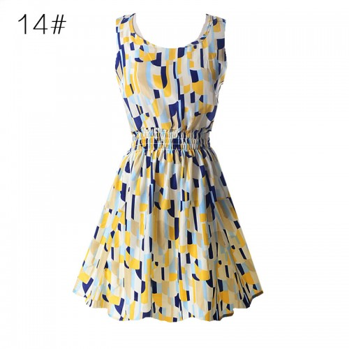 Sleeveless Printed Floral Slim Tank Mini Dress (14)