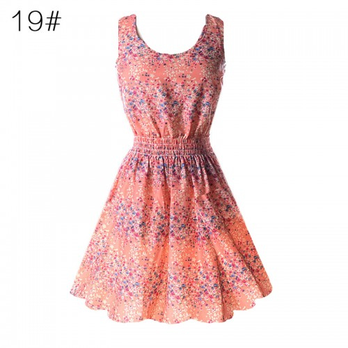Sleeveless Printed Floral Slim Tank Mini Dress (19)