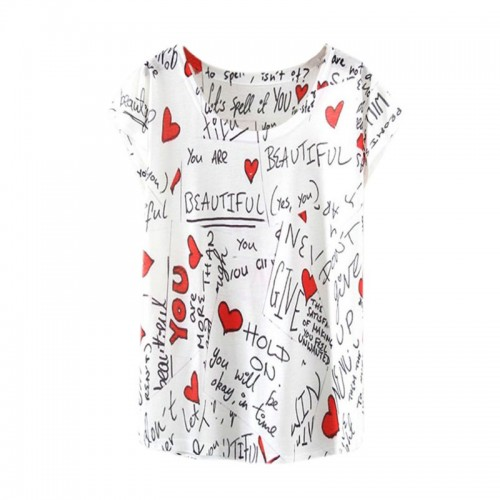 Women Fashion Half Sleeves Summer Clothes Casual T Shirts (1)
