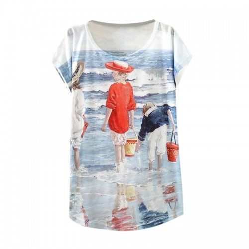 Women Fashion Half Sleeves Summer Clothes Casual T Shirts (2)