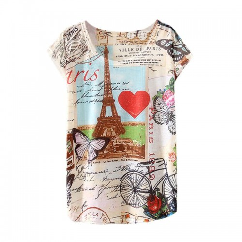 Women Fashion Half Sleeves Summer Clothes Casual T Shirts (7)