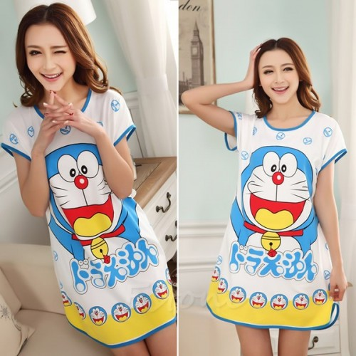 Printed Sleepwear Short Sleeve Long T-Shirt (3)