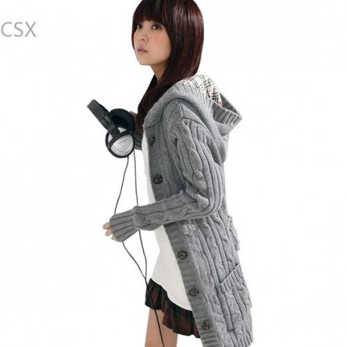 AlishebuyNew Antumn warm winter cardigans long sleeve cardigans women sweater F 51