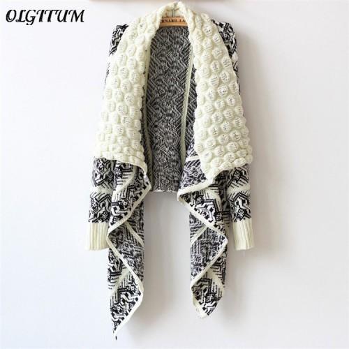 Autumn and Winter Cardigan Fashion Women Sweater Women Big Casual Knitting Sweater Women outwear 3