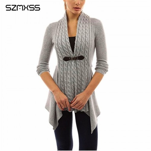 Cardigans For Women Twist Knitted Sweater Jacket Coat Autumn Long Sleeve Casual Plus Size 5XL