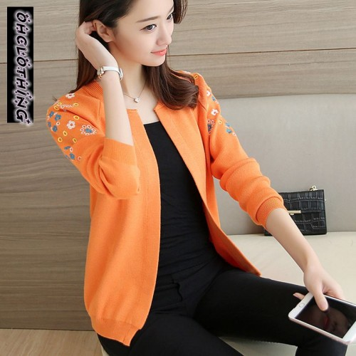 OHCLOTHING A short paragraph cardigan sweater dress female new spring coat sweater slim blouse solid