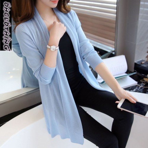 OHCLOTHING spring in the New Womens loose long sweater cardigan sweater shawl female thin coat
