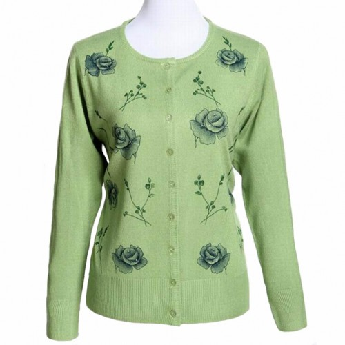 Spring thin cardigan new Long sleeve knitted cardigan plus size 4XL sweater women s Floral