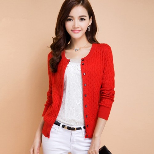 Women s Knitted Twist Striped Cashmere Cardigans Female Winter O Neck Full Sleeve Sweater Autumn